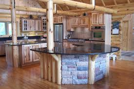 log cabin kitchen designs have the perfect combination of natural elements to create a warm country atmosphere