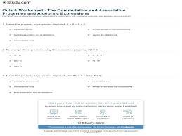 Associative Property Worksheet Worksheets for all | Download and ...