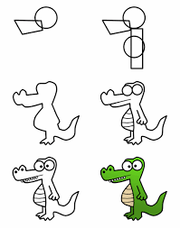 crocodile drawing for kids. Beautiful Crocodile Hayvan Resimleri Nasl Izilir  Evderesimnaslyaplr  Hayvanresimleriizmeu2026 Throughout Crocodile Drawing For Kids R