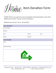 Sample Donation Form Free 4 Item Donation Forms Pdf