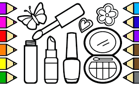 Makeup Coloring Pages Makeup Coloring Pages Barbie Coloring Pages