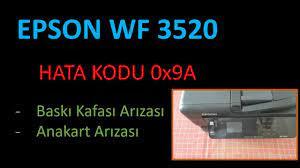 Epson Yazıcı WF 3520 Hata Kodu 0x9A - YouTube
