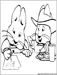 Max And Ruby Homework Coloring Page
