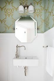 traditional small powder room ideas powder room traditional with wood panel wall bright colors large sink