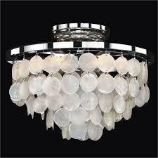 capiz shell lighting fixtures. glow lighting bayside capiz shell polished chrome 13inch width sixlight flush mount fixtures