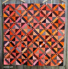 from Wombat Quilts. Paper pieced. Link to pattern. Love it ... & Orange Adamdwight.com