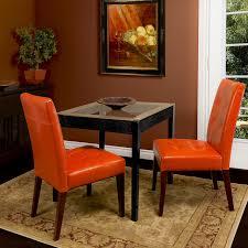 orange dining chairs