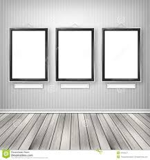 Empty picture frames on wall Bedroom Three Empty Frames On Wall Keeplewisvillebeautifulinfo Three Empty Frames On Wall Stock Illustration Illustration Of