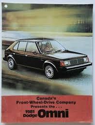 1981 Dodge Omni Dealer Sales Brochure Catalog W Color