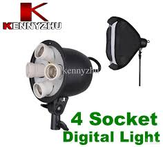 2018 studio continuous lighting photo digital light with 4 socket e27 lamb bulb holder softbox from kennyzhu 64 25 dhgate com