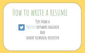 Tips On How To Write A Resumes How To Write A Great Resume For Software Engineers