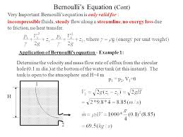 bernoulli s equation cont