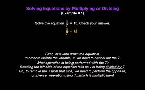 solving one step equations by multiplying or dividing konst math