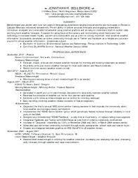 Meteorologist Sample Resume Inspiration Meteorologist Resume 44 Experimental Meteorologist Resume Objective