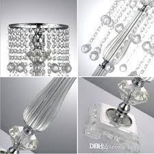 crystal silver chandelier cm tall newest crystal flower stand gold silver chandelier acrylic wedding decoration table crystal silver chandelier