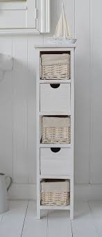 Interesting Bathroom Storage Drawers Narrow 20 Cm Freestanding Cabinet With Baskets In Beautiful Design