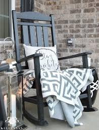 front porch furniture ideas. black rocking chair on front porch with lantern furniture ideas