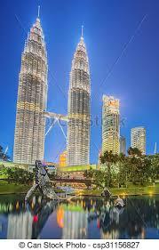 modern architecture skyscrapers. Perfect Skyscrapers Modern Architecture And City Park Malaysia  Csp31156827 In Architecture Skyscrapers