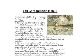 van gogh road to tarascon gcse art marked by teachers com document image preview