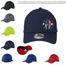 Flex Fit Hat Design Thin Red Line Spartan Firefighter Flex Fit Hat Custom