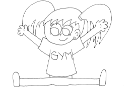Small Picture Gymnastics Coloring Pages Lets Doing Sport Gianfredanet