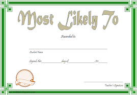 Most Likely To Award Template Most Likely To Certificate Template 9 New Designs Free