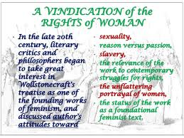 essays on a vindication of the rights of women cf essays on a vindication of the rights of women