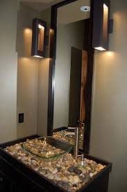 Awesome Dark Brown Stainless Glass Luxury Design Small Bathroom Ideas Wall  Mirror Sink Faucets Cabinet Stone Glass Bowl White Wall Paint At Bathroom  As Well ...