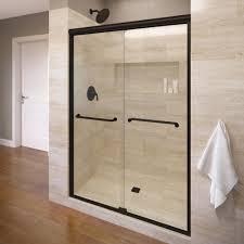 semi frameless sliding clear glass shower door