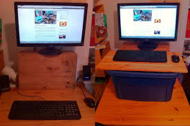 standing desk attachment diy