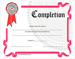 free training completion certificate templates completion certificate templates 40 free word pdf psd eps