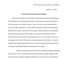Divorce Essays Essays On Children Magdalene Project Org