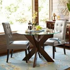42 round glass top dining table sets