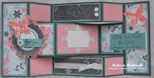 Tri Fold Card TriFold Shutter Card Tri fold Card tutorials and Scrapbook 1