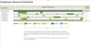Make Schedule On Excel Absence Tracking Calendar