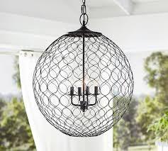 net globe indooroutdoor pendant pottery barn pertaining to attractive household pottery barn outdoor chandelier decor