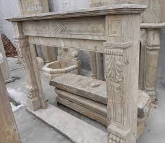 image of faux stone fireplace mantels