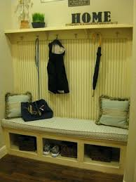 Mudroom Coat Rack Custom Mud Room Bench With Coat Rack By Burrows Cabinets Traditional Hall