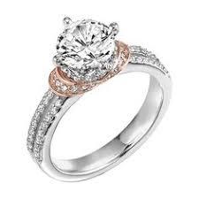 artcarved artcarved tahlia split shank enement ring split shank enement rings pink gold rings
