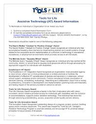 Tools for Life Assistive Technology (AT) Award Information
