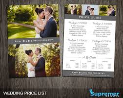 bridal shoot flyers wedding price list template wedding photography pricing