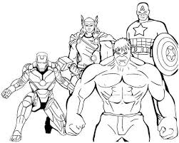Small Picture Superhero Avengers Coloring Pages Printable Preschool