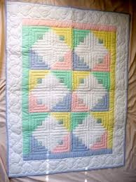 33 best Amish Baby and Infant Quilts images on Pinterest | Around ... & Amish Baby Quilt - Log Cabin Pattern - unisex colors. Adamdwight.com