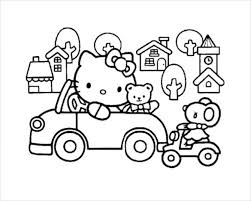 Free, printable hello kitty coloring pages, party invitations, printables and paper crafts for hello kitty fans the world over! Hello Kitty Coloring Page 10 Free Psd Ai Vector Eps Format Download Free Premium Templates
