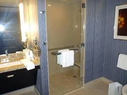 aria resort room roll in shower stall ada revit