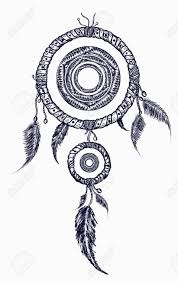 Aztec Dream Catcher Tattoo Dream Catcher With Feathers Tattoo Boho Native American Style 74