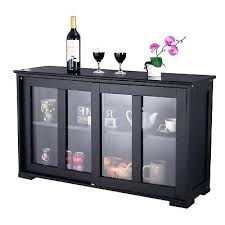 server storage cabinet kitchen island server storage cabinet wood cupboard glass doors portable counter homcom 71