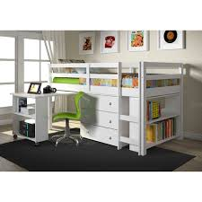 kids twin beds with storage. Donco Kids Low Study Loft Desk Twin Bed With Chest And Bookcase | Overstock.com Beds Storage T
