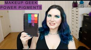 makeup geek power pigments swatches sugarpill parison demo of all shades