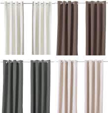 Ikea MERETE Pair of Curtains 2 panels Brown Purple Beige White ...